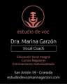 Estudio de Voz Marina Garzón tu academia en Granada